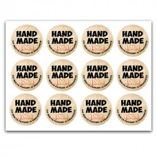 Etichete autoadezive Handmade stil vintage