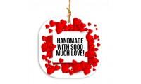 """Etichete """"Handmade with so much love"""" 48buc"""