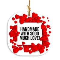 "Etichete ""Handmade with so much love"" 48buc"