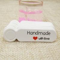 "Etichete albe ""Handmade with love"" 50buc"
