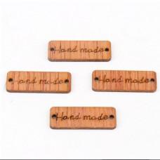 Etichete din lemn Hand made 20 bc