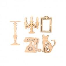 Set elemente decorative din lemn 10bc