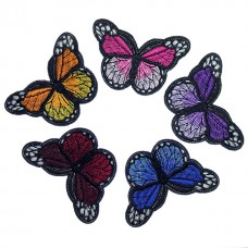 Set fluturi brodati 4cm 5bc