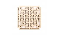 Elemente decorative lemn 64mm patrat