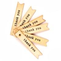 Etichete lemn Thank you 5bc