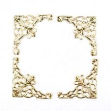 Colt decorativ auriu din aliaj 4 buc
