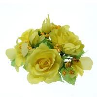 Coronite Flori pentru lumanari Galben