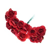 Buchet trandafiri miniaturali din hartie ROSII