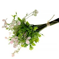 Flori Artificiale Buchet Frunze Roz