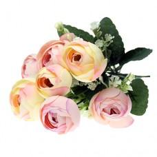 Buchet Ranunculus Floricele arificiale Crem-Roz