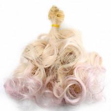 Par papusi 27cm   Blond cu varfuri roz