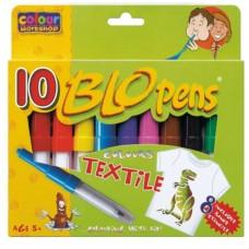 Set 10 carioci de suflat pe textil - BLO Pen + 8 sabloane