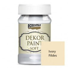 Vopsea decorativa soft 100ml Ivory Fildes